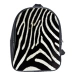 Zebra Print Big	 School Bag (Large)