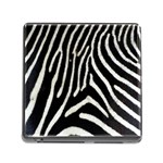 Zebra Print Big	 Memory Card Reader with Storage (Square)