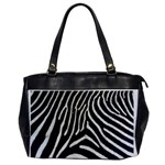 Zebra Print Big	 Oversize Office Handbag (One Side)