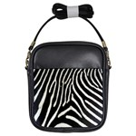 Zebra Print Big	 Girls Sling Bag