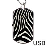Zebra Print Big	Dog Tag USB Flash (One Side)