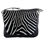 Zebra Print Big	Messenger Bag