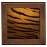 Tiger Print Dark	 Framed Tile