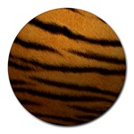 Tiger Print Dark	 Round Mousepad