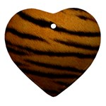 Tiger Print Dark	 Ornament (Heart)