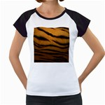 Tiger Print Dark	 Women s Cap Sleeve T