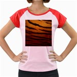 Tiger Print Dark	 Women s Cap Sleeve T-Shirt