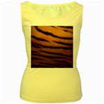 Tiger Print Dark	 Women s Yellow Tank Top