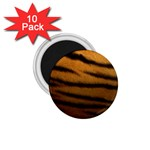 Tiger Print Dark	 1.75  Magnet (10 pack)