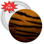 Tiger Print Dark	 3  Button (10 pack)