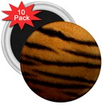 Tiger Print Dark	 3  Magnet (10 pack)