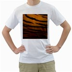 Tiger Print Dark	 White T-Shirt