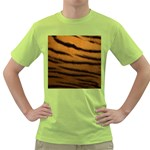 Tiger Print Dark	 Green T-Shirt