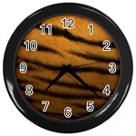 Tiger Print Dark	 Wall Clock (Black)