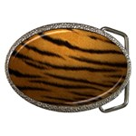 Tiger Print Dark	 Belt Buckle