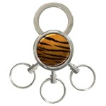 Tiger Print Dark	 3-Ring Key Chain