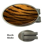 Tiger Print Dark	 Money Clip (Oval)
