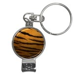 Tiger Print Dark	 Nail Clippers Key Chain