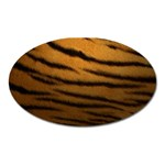 Tiger Print Dark	 Magnet (Oval)