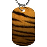 Tiger Print Dark	 Dog Tag (One Side)
