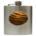 Tiger Print Dark	 Hip Flask (6 oz)
