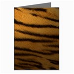 Tiger Print Dark	 Greeting Card