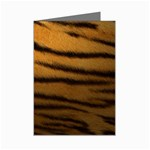 Tiger Print Dark	 Mini Greeting Card