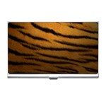Tiger Print Dark	 Business Card Holder