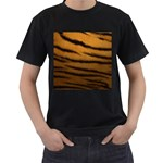 Tiger Print Dark	 Black T-Shirt (Two Sides)
