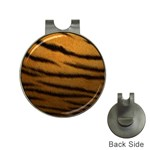 Tiger Print Dark	 Golf Ball Marker Hat Clip