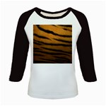 Tiger Print Dark	 Kids Baseball Jersey