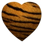 Tiger Print Dark	 Jigsaw Puzzle (Heart)