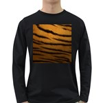 Tiger Print Dark	 Long Sleeve Dark T-Shirt