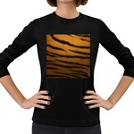 Tiger Print Dark	 Women s Long Sleeve Dark T-Shirt