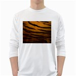 Tiger Print Dark	 Long Sleeve T-Shirt