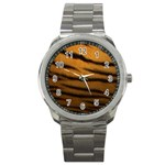 Tiger Print Dark	 Sport Metal Watch