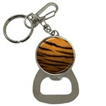Tiger Print Dark	 Bottle Opener Key Chain