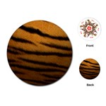 Tiger Print Dark	Playing Cards (Round)