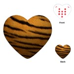 Tiger Print Dark	Playing Cards (Heart)