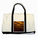 Tiger Print Dark	 Two Tone Tote Bag