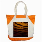 Tiger Print Dark	 Accent Tote Bag