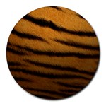 Tiger Print Dark	Collage Round Mousepad