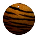 Tiger Print Dark	 Round Ornament (Two Sides)