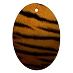 Tiger Print Dark	 Oval Ornament (Two Sides)