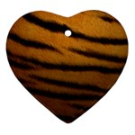 Tiger Print Dark	 Heart Ornament (Two Sides)