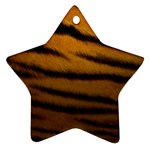 Tiger Print Dark	 Star Ornament (Two Sides)