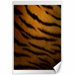 Tiger Print Dark	Canvas 12  x 18