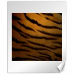 Tiger Print Dark	Canvas 16  x 20
