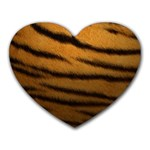 Tiger Print Dark	 Mousepad (Heart)