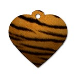 Tiger Print Dark	 Dog Tag Heart (One Side)